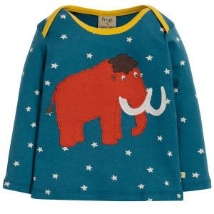 Frugi Bobby Applique Top Woolly Mammoth