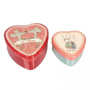 Maileg Loving Heart Tins – 2 pk