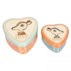 Maileg Bambi Heart Tins – 2 pk