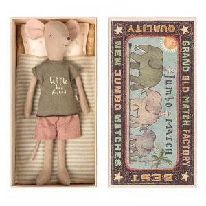 Maileg Medium Boy Mouse in Matchbox