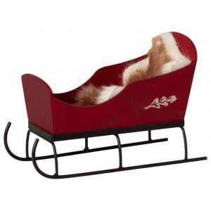Maileg Wooden Sleigh – Red