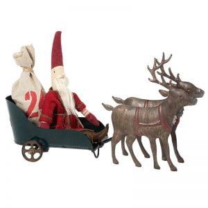 Maileg Santa's Sleigh with Reindeer