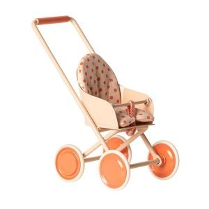 Maileg Micro Stroller – Soft Coral