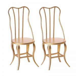 Maileg Vintage Gold Chairs – Micro 2 pack