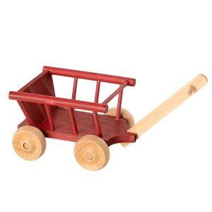 Maileg Wagon, Micro – Dusty Red