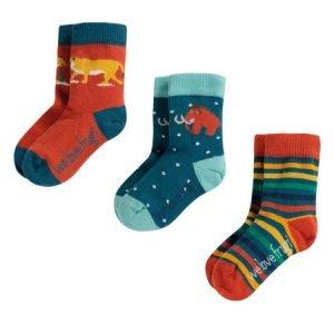 Frugi Prehistoric Socks 3 Pack