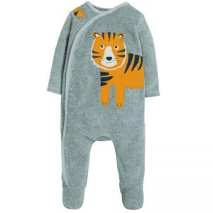 Frugi Stevie Swoop Babygrow – Tiger