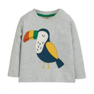 Frugi Little Discovery Applique Top – Toucan