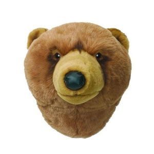 Wild and Soft Animal Trophy Head – Oliver the Grizzly Bear
