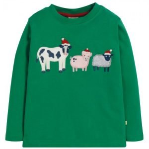 Frugi Festive Friends Applique Top