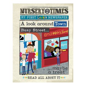 Nursery Times Crinkly Newspaper – A Look Around Town