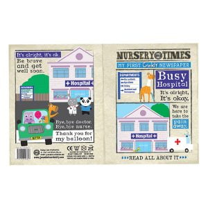 Nursery Times Crinkly Newspaper – Busy Hospital