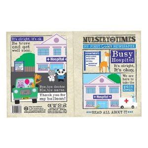 Nursery Times Crinkly Newspaper – Busy Hospital