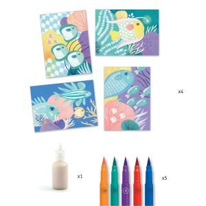 Djeco Felt Brushes Under the Sea