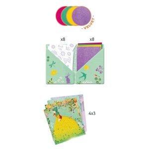 Djeco Artistic Patch Velvet Collages – Fair Maidens
