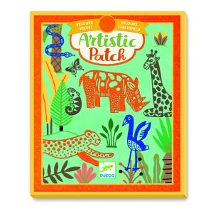 Djeco Artistic Patch Velvet Collages – Wild Animals