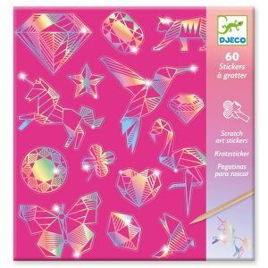Djeco Scratch Art Stickers Diamond