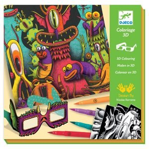 Djeco 3D Colouring – Funny Monsters