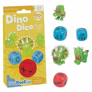 Zoobookoo Dino Dice Math Game Beginner