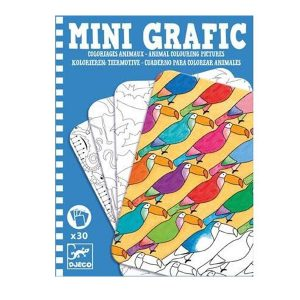 Djeco Mini Grafic – Animal Colouring Pictures