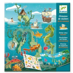 Djeco Sticker Stories – Adventure At Sea