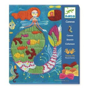 Djeco Drop Stitch Canvas Sewing Workshop – Mermaid