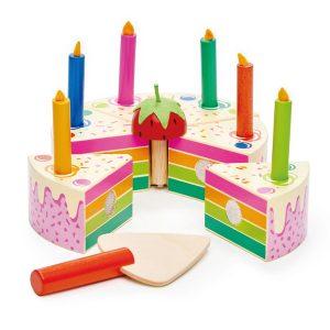 Tender Leaf Rainbow Birthday Cake