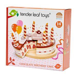 Tender Leaf Chocolate Birthday Cake