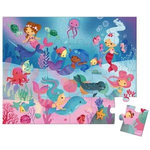 Janod Hatbox Mermaid 24pc Puzzle