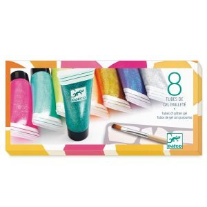 Djeco 8 Tubes of Glitter Gels