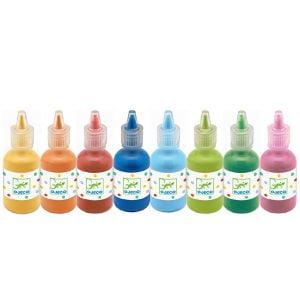 Djeco 8 Squeezy Bottles of Gouache Paint
