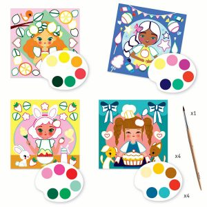 Djeco Cards to Paint – Snack Time
