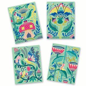 Djeco Pastel Scratch Cards Fantasy Garden