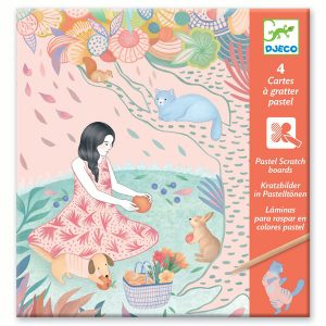 Djeco Pastel Scratch Cards The Picnic