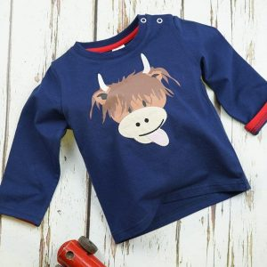 Blade and Rose Long Sleeved Top Highland Cow