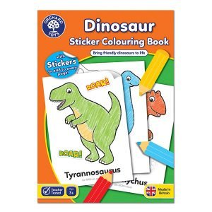 Orchard Toys Dinosaurs Colouring and Sticker Book
