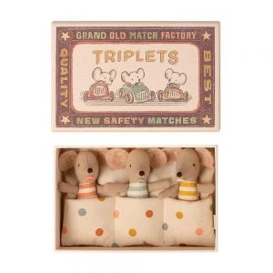 Maileg Baby Mice – Triplets in Matchbox