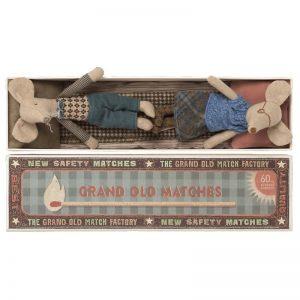 Maileg Grandma & Grandpa Mouse in Matchbox