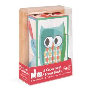 Janod 6 Forest Block Puzzle in Wooden Box