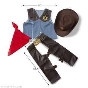 Melissa and Doug Cowboy Role Play Costume Set