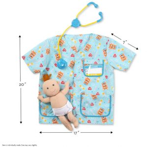 Melissa and Doug Pediatric Nurse Role Play Costume Set
