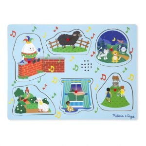 Melissa And Doug Sing Along Nursery Rhymes Sound Puzzle – Blue