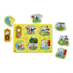 Melissa And Doug Sing Along Nursery Rhymes Sound Puzzle – Yellow