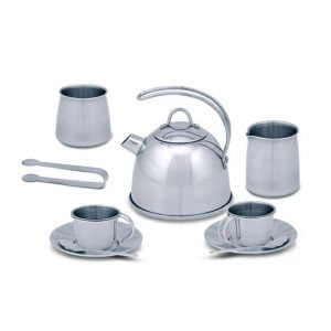 Melissa and Doug Stainless Steel Tea Set and Stand