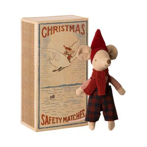 Maileg Big Brother Christmas Mouse in Matchbox