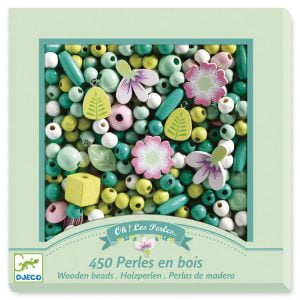Djeco Wooden Beads – Leaves & Flowers