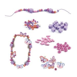 Djeco Wooden Beads – Butterflies