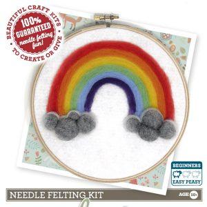 Crafty Kit Company – Rainbow of Hope Needle Felting Kit