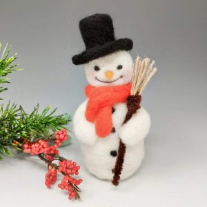 Crafty Kit Company – Festive Snowman Needle Felting Kit