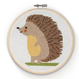 Crafty Kit Company – Hedgehog Cross Stitch Kit